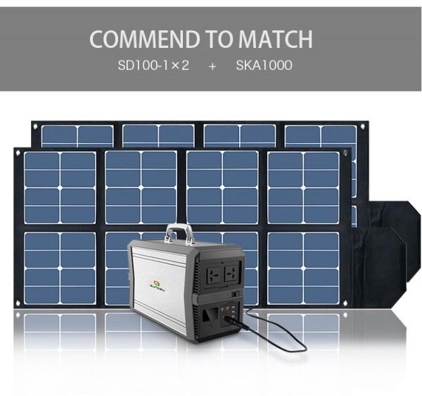 Kit Lithium 39Ah(1010Wh) und Flexible Solarmodule 200Wp - 2x100Wp für Wohnmobile und Camping