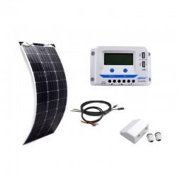 KIT SOLAR 160W 12V FLEXIBLE Wohnmobile Camping Solaranlage PWM
