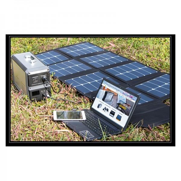 Kit Lithium 39Ah(1010Wh) und Flexible Solarmodul 130Wp Komplette Anlage für Wohnmobile und Camping