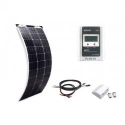 KIT SOLAR 400W- 4x100W 12V SEMIFLEXIBLE Wohnmobile Camping Solaranlage