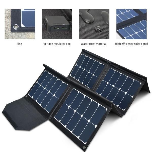 Solarmodule Tasche 130Wp - 12V kristalline flexible Outdoor Solarpanel bag