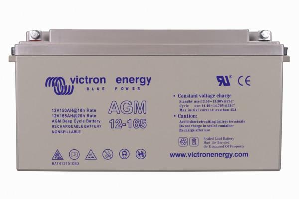 Victron Energy 12V / 165Ah AGM Tiefzyklus Batterie mit Gewindeeinsatz Klemmen